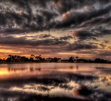 Sundusk over Punta Gorda, FL by LudaNayvelt