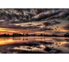 Sundusk over Punta Gorda, FL Photographic Print