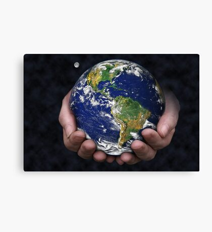 Holding the Earth Canvas Print