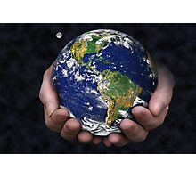 Holding the Earth Photographic Print