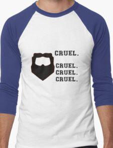 Cruel. Cruel. Cruel. Cruel. Men's Baseball ¾ T-Shirt
