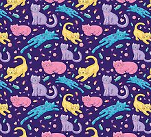 Playful Kittens Pattern by noondaydesign