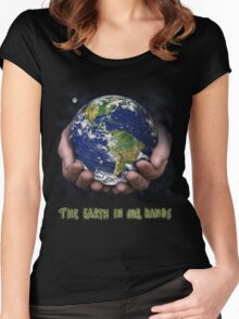 The Earth In Our Hands Women's Fitted Scoop T-Shirt