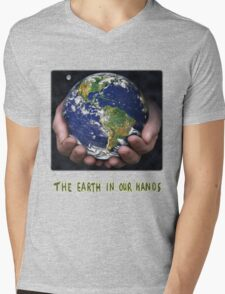 The Earth In Our Hands Mens V-Neck T-Shirt