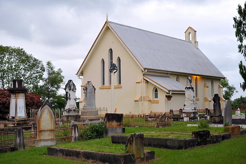 Old Church & Cemetery. Mitchelton, Brisbane, Queensland, Australia. by Ralph de Zilva