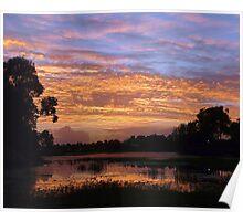 Golden Morning Sky Poster