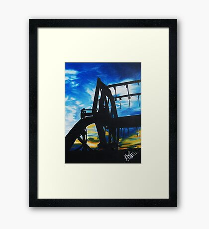 Harvest Sunset Framed Print