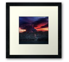 Sunset at Kalapana 2 Framed Print