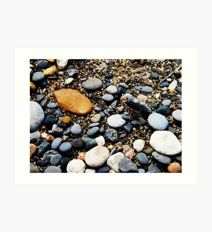 Pebbles at Point Pelee, Ontario Art Print