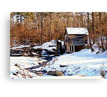 Old Grist Mill in Clarkesville Canvas Print
