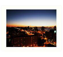 Windsor/Detroit Skyline at Sunset I Art Print