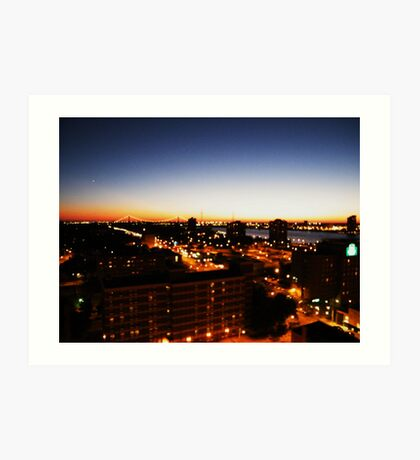 Windsor/Detroit Skyline at Sunset I Art Print