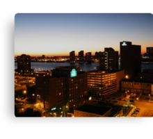 Windsor/Detroit Skyline at Sunset II Canvas Print