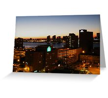 Windsor/Detroit Skyline at Sunset II Greeting Card