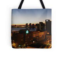 Windsor/Detroit Skyline at Sunset II Tote Bag