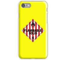 Flammable Solid iPhone Case/Skin