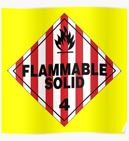 Flammable Solid Poster