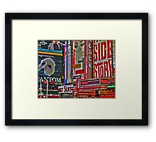 NYC Signs Framed Print