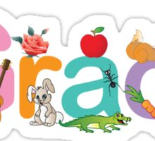 Custom Name clothing and stickers - Grace Sticker
