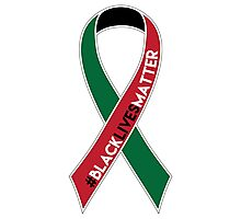 Black Lives Matter Awareness Ribbon Photographic Print
