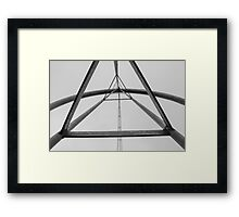 Looking Up A Tower Framed Print