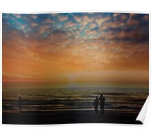 Lovers Sunset Stroll Poster