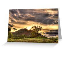 Sunset Warrumbungle National Park NSW   Greeting Card