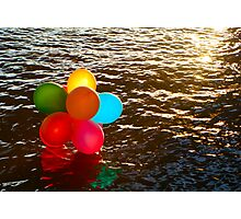 Balloons on the water Photographic Print