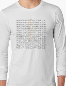 Photographer Word Search Puzzle Long Sleeve T-Shirt