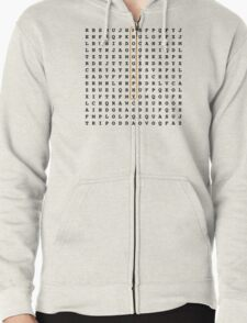 Photographer Word Search Puzzle Zipped Hoodie
