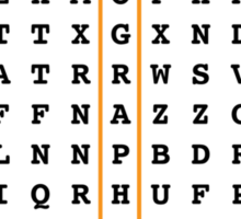 Photographer Word Search Puzzle Sticker