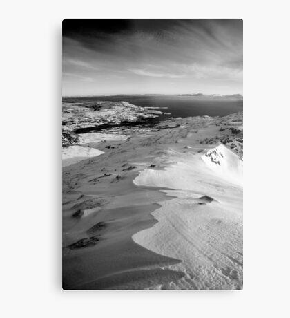 snow capped sleiveleague Metal Print