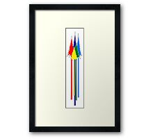 Tall Pines Multi Color Framed Print