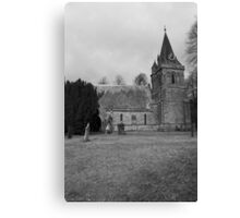 Quiet church on a spring morning Canvas Print
