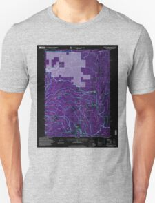 USGS Topo Map California Broken Rib Mountain 100532 1996 24000 Inverted T-Shirt