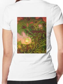 Tahitian Sunrise sultry tropical Fall fantasy dreamscape Women's Fitted V-Neck T-Shirt