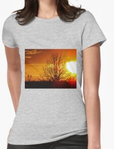 Great Ball of Fire Womens Fitted T-Shirt