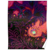 Tahitian Sunset sultry tropical Summer dreamscape Poster