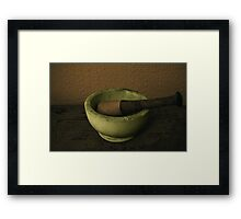 Pestle & Mortar Framed Print