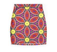 Retro Floral Design Mini Skirt