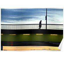 Paris -  Sunset Bridge. Poster