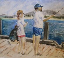 Summer holidays fishing on the Hopetoun Jetty by Michelle Gilmore
