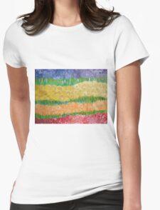 Flower field 2014 Womens Fitted T-Shirt