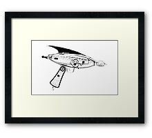 RETRO ASTRO RAYGUN SPACE Science Fiction Framed Print