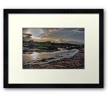 Auto sunset Framed Print