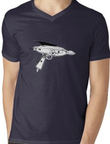 RETRO ASTRO RAYGUN SPACE Science Fiction Mens V-Neck T-Shirt