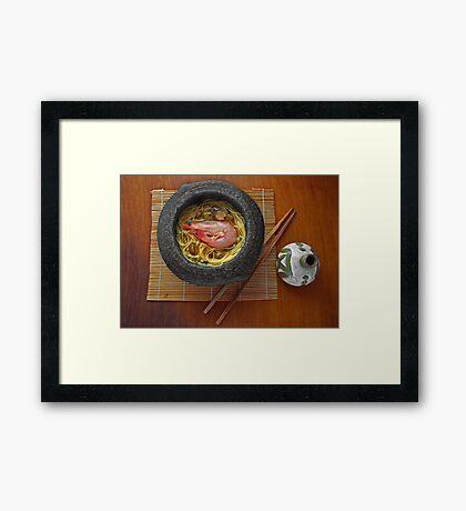 Prawn Noodles  Framed Print