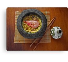 Prawn Noodles  Canvas Print