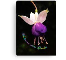 Ballerina of the Garden  Canvas Print