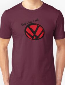 VW logo - that's how i roll... black & red text Unisex T-Shirt